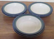 Pfaltzgraff  OCEAN BREEZE Blue/Green Soup/Cereal Bowls  Set of 6   USA
