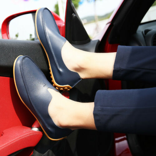Boat Pu Slip Shoes 5 On Casual Us Uomo 5 12 Mocassino Leather Flat Driving Fannullone qzEwFx1HF