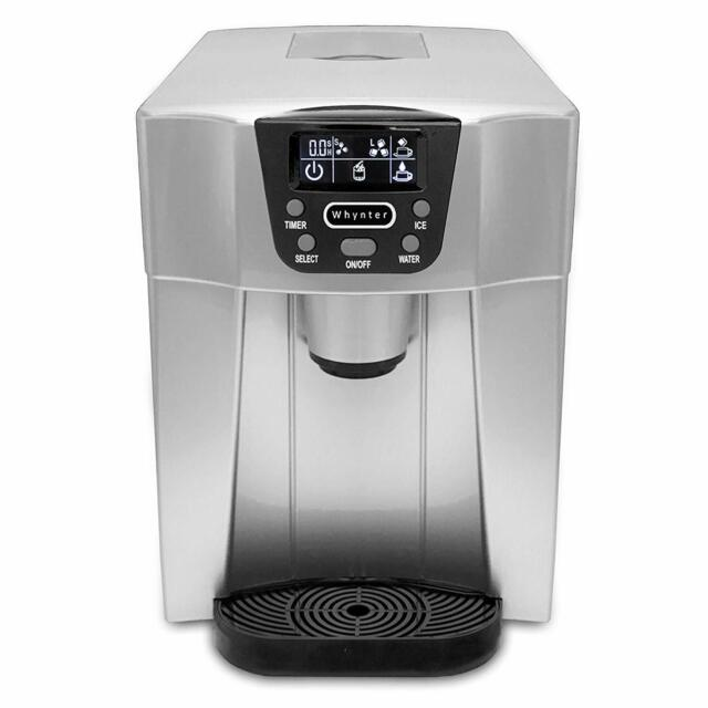 NutriChef PICEM75.0 Ice Maker and Dispenser Silver