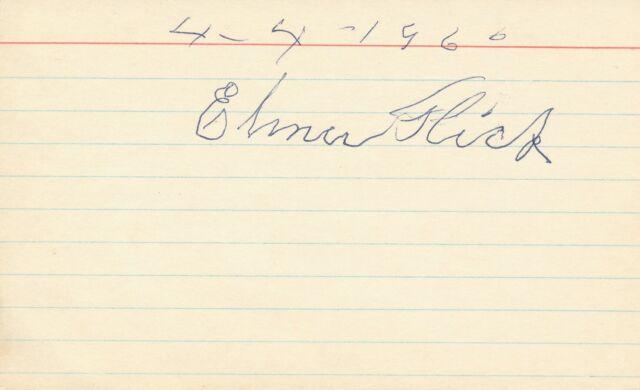 Elmer Flick - Signature of the Baseball Hall of Famer