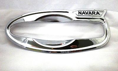 CHROME 4 DOOR HANDLE BOWL INSERT COVER FOR NEW NISSAN NAVARA NP300 2015 TRUCK V3