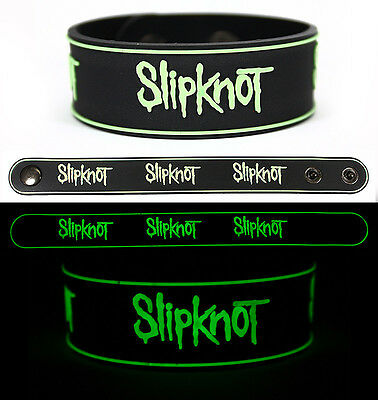 SLIPKNOT Rubber Bracelet Wristband Glows in the Dark