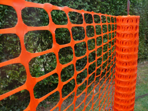 10 Stahl-Stangen 1mx50m orange Warnzaun Bauzaun Absperrzaun Mobilzaun 110 g//m²