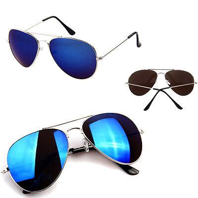 Anti-Reflective Goggle AVIATOR Metal Sunglasses Eyewear Mirrored UV Protection