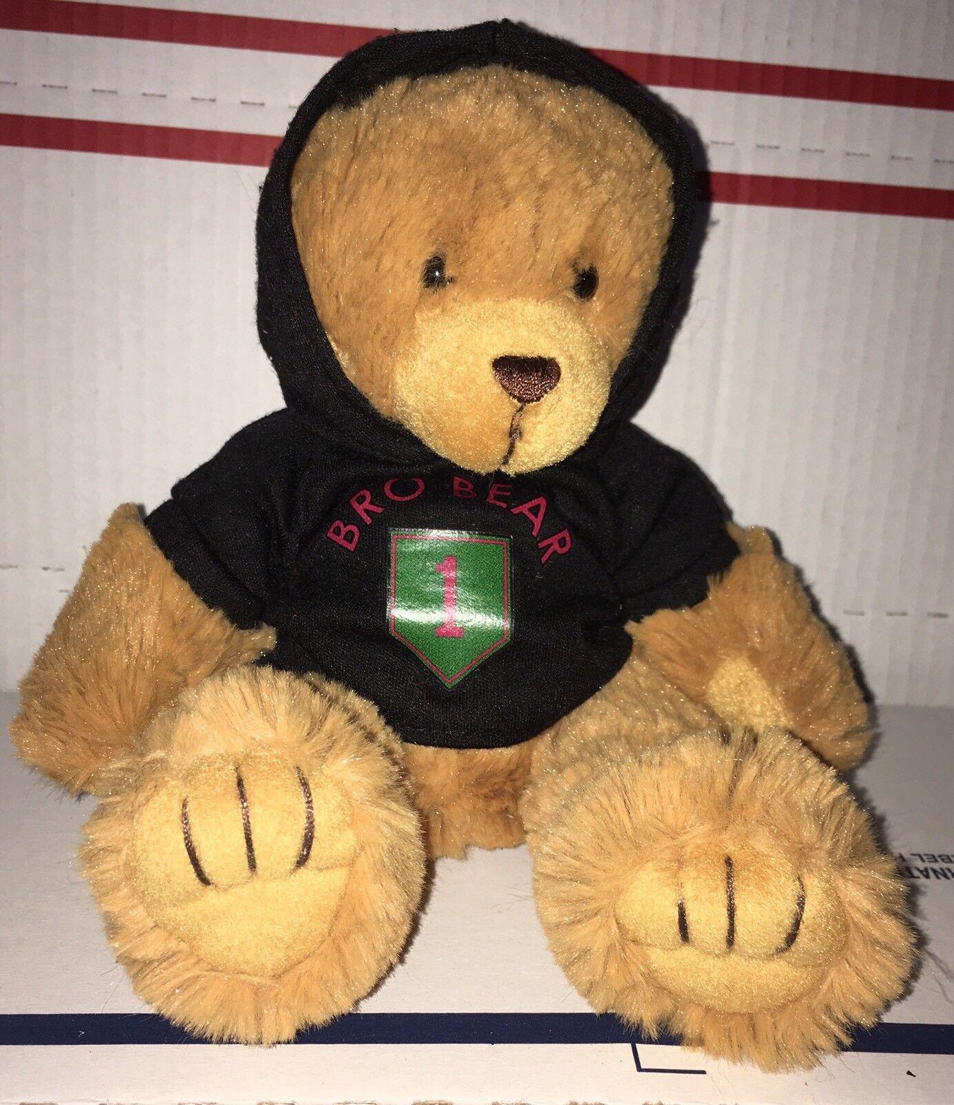 Artistic toys 6 inch plush bro bear in hoodie