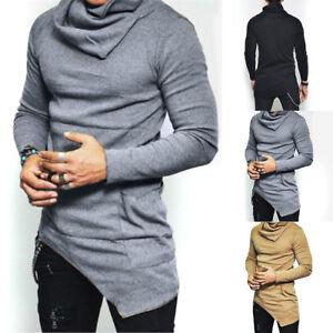 Fashion-Men-Slim-Fit-Irregular-Long-Sleeve-Muscle-Tee-Shirts-T-shirt-Tops-Blouse