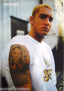 Eminem hija del tatuaje en el brazo Asian PosterDetroit Rap