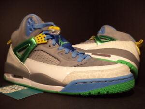 e0b081cf7bf760 Nike Air Jordan SPIZIKE EASTER STEALTH CEMENT COOL GREY GREEN BLUE ...