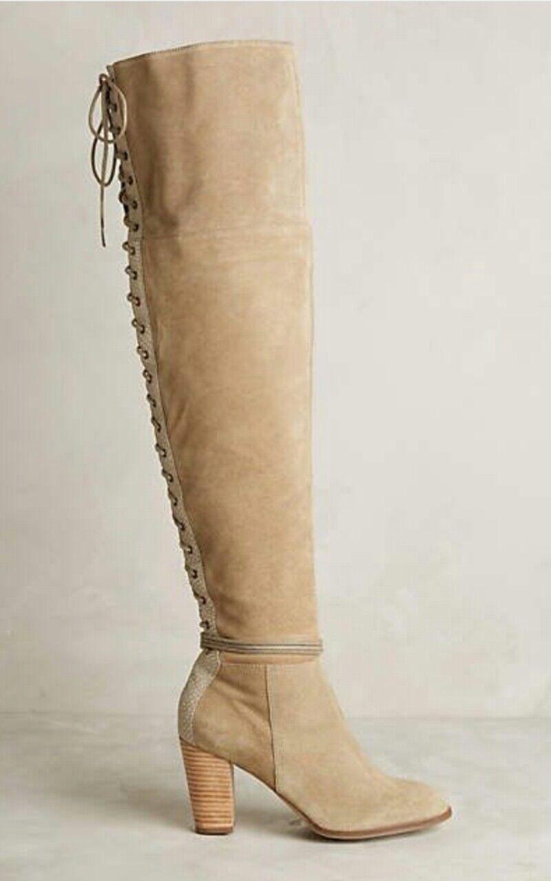 Anthropologie Toro Con Cordones Cordones Cordones encima de la rodilla botas por Lien hacer marrón topo talla 8  358  estar en gran demanda