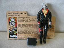 1984 GI Joe action figure DESTRO v1 Hasbro vintage toy w/ file card Cobra ARAH !