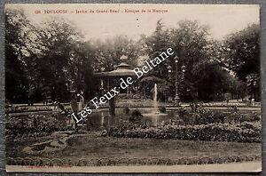 TOULOUSE KIOSQUE A MUSIQUE JARDIN DU GRAND ROND postcard | eBay