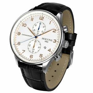 HOLUNS-Mens-Date-Chronograph-Leather-Band-Waterproof-Luxury-Quartz-Wrist-Watch