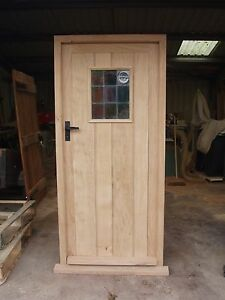 Image is loading Solid-Oak-Framed-Ledge-Door-No-Vat-Exterior- & Solid Oak Framed Ledge Door  No Vat!!! Exterior Hardwood Joinery ...