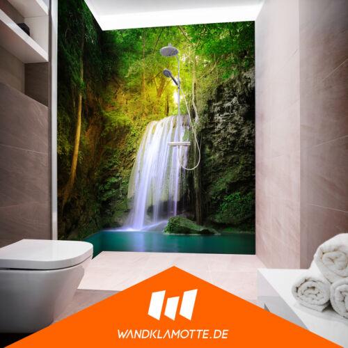 Coin duschrückwand deux plaques alu bain douche mur Hidden Oasis