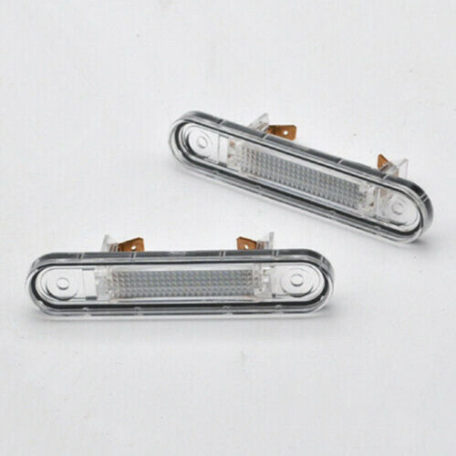 For Mercedes E W124 W201//202 Models Car White LED License Plate Lights Reliable