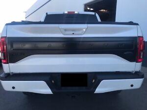Details About 2018 Oem Ford F 150 Platinum Tailgate Applique Panel Custom Painted Flat Black