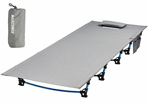 Heavy Duty Folding Lightweight Camping Bed for Hiking Mountaineering - grau