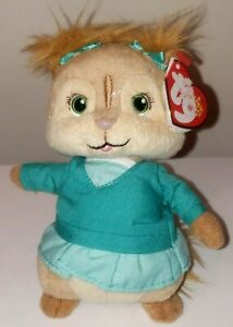 CT/ST* Ty Beanie Baby - ELEANOR (Chipette - Alvin and the Chipmunks) MWCT