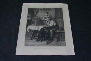 old-prints-Illustration-Forester-Sonntagsvergnuegen-old-vintage-Collector
