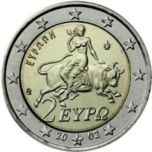 RARE DE+EN+RARE 2 € OFFICIEL GRECE  2002 AVEC LETTRE / S /* UNC-Neuve