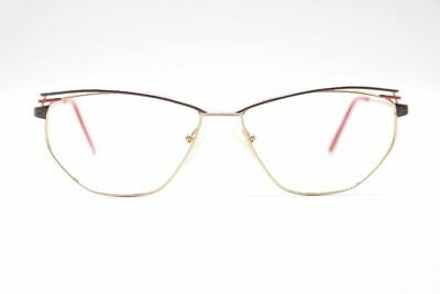Diszipliniert Vintage Luxdemorez Benedicte Col. 03 57[]15 135 Gold Rot Oval Brille Nos