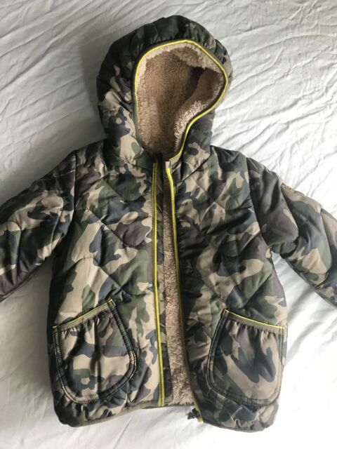 Zara Baby Boy Military Jacket Puffer Coat With Hoody ...