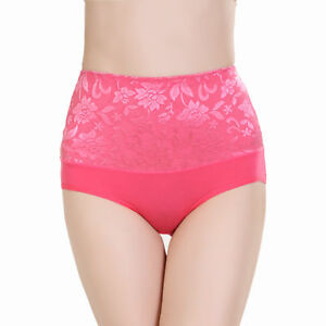 Ladies-Girl-Women-Bamboo-Fibre-Lace-Underwear-Panty-Knickers-Brief-Q5163