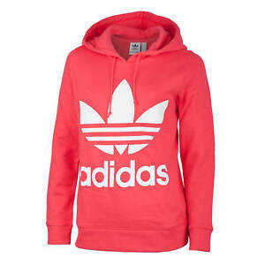 797541e9f018 Image is loading Adidas-Originals-Trefoil-Hoody-Women-Rose-Hoodie-Core-