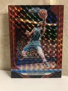 2018-19-Panini-Prizm-Mosaic-Red-Prizms-52-Kemba-Walker-Red-Parallel-MINT