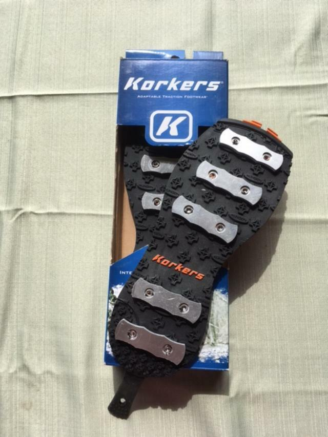 New. Korkers Alumitrac Soles.  Size 9.