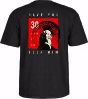 Powell Peralta 30 Years Animal Chin Skateboard Shirt Black Large