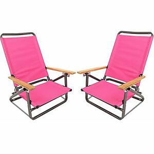 Image Is Loading 2 Folding Beach Chair Camping Chair Arm Lightweight