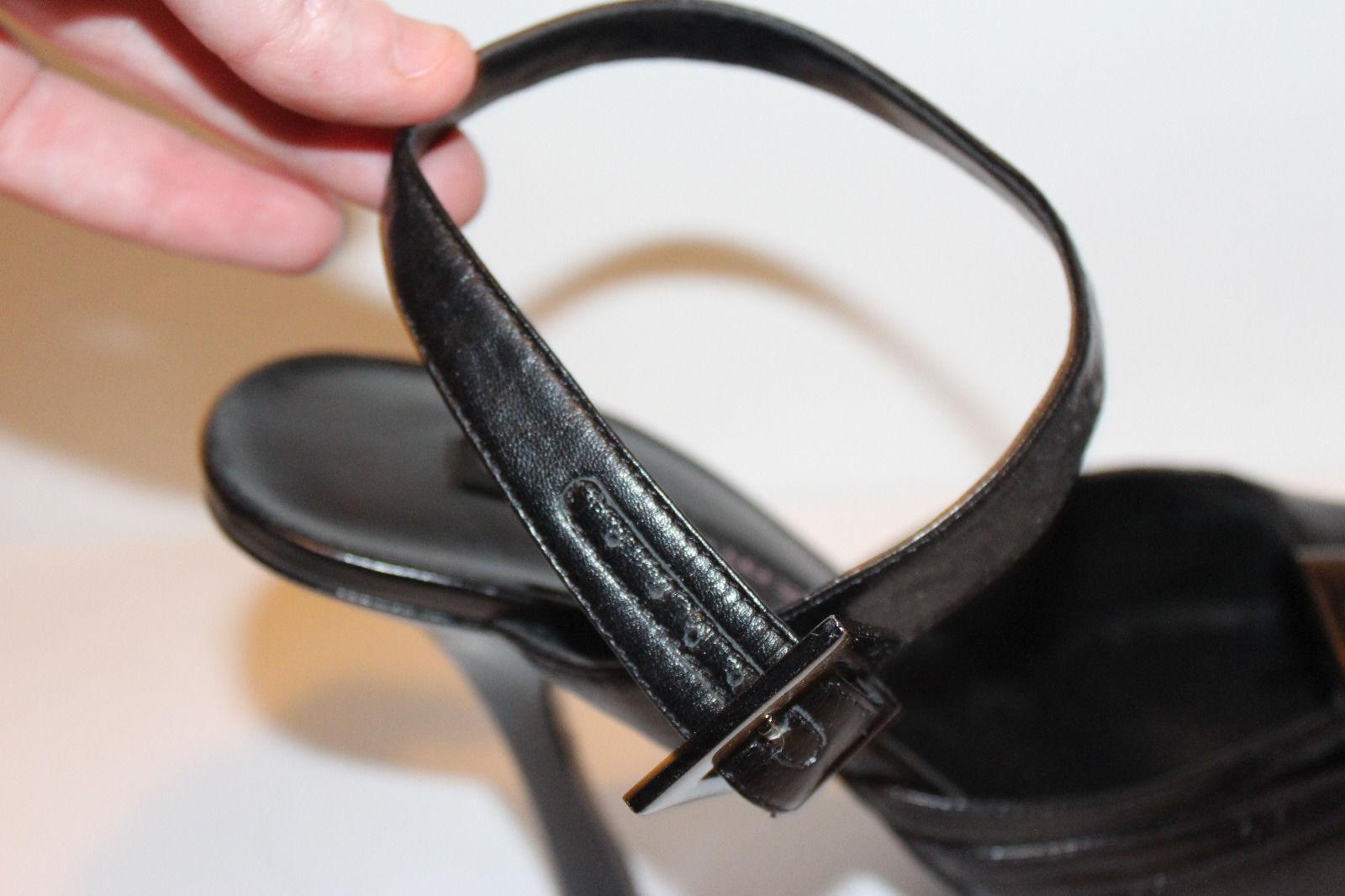 STEVEN sexy heels schwarz Leder stilettos heels sexy Größe 9B Medium 59c238
