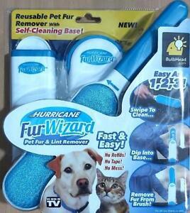 Dog Cat Pet Hair Remover Sofa Clothes Lint Cleaning Brush Reusable Fur Brush Uk Ebay