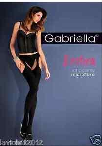Gabriella-Exklusive-Damen-Strumpfhose-Strip-Panty-Blickdicht-schwarz