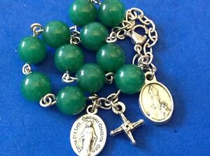 Custom St Patrick Bridget Cross Rosary Bracelet Saint