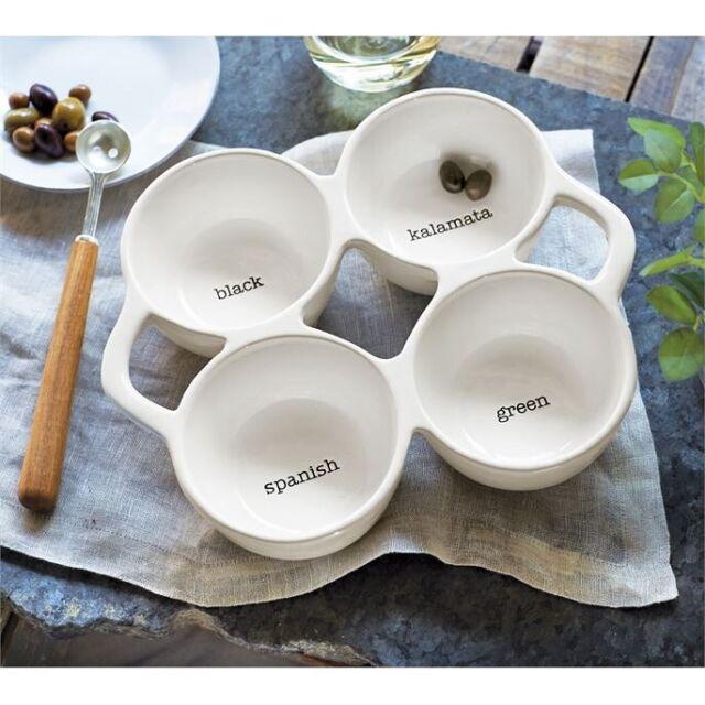 Mud Pie Vintage Inspired Fruit Pedestal Bowl Set White