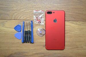 Dettagli su FULL COMPLETO in Lega di Metallo Telaio Custodia Posteriore Case Cover per iPhone 7 & 7 Plus RED- mostra il titolo originale