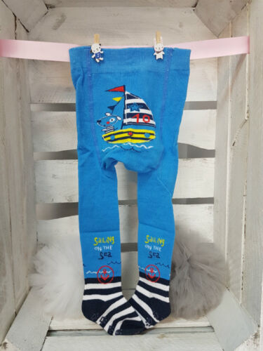BABY BOY TERRY COTTON ANTI SLIP CRAWLING TIGHTS WITH BACK PRINT AND ABS