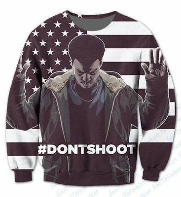 New Womens/Mens Don't Shoot - Black Lives Matter Funny 3D Print Sweatshirts OS70