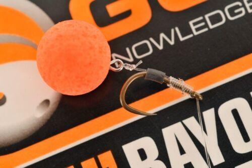 "GURU SIZE 14 BARBLESS 4/"" BAYONET SPIKE HAIR RIGS x 8 FOR COARSE FISHING"