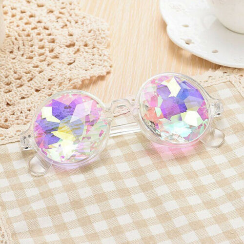 Steampunk Goggles Kaleidoscope Glasses Diffracted Rainbow Len Rave Party Cosplay