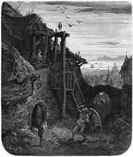 Gustave Dore gigantón Pantagruel 055 A4 Foto impresión