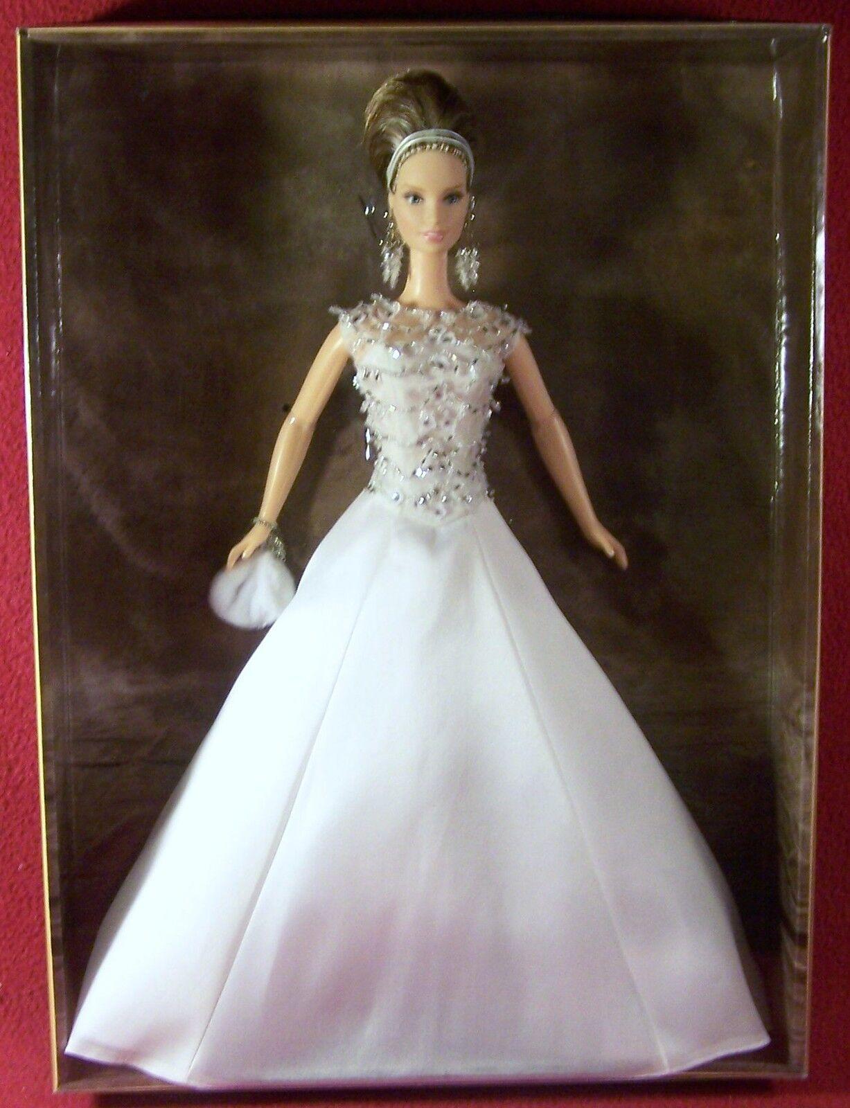Mattel Badgley Mischka Novia Barbie oro Label certificado Mib Caja Original En Caja Original