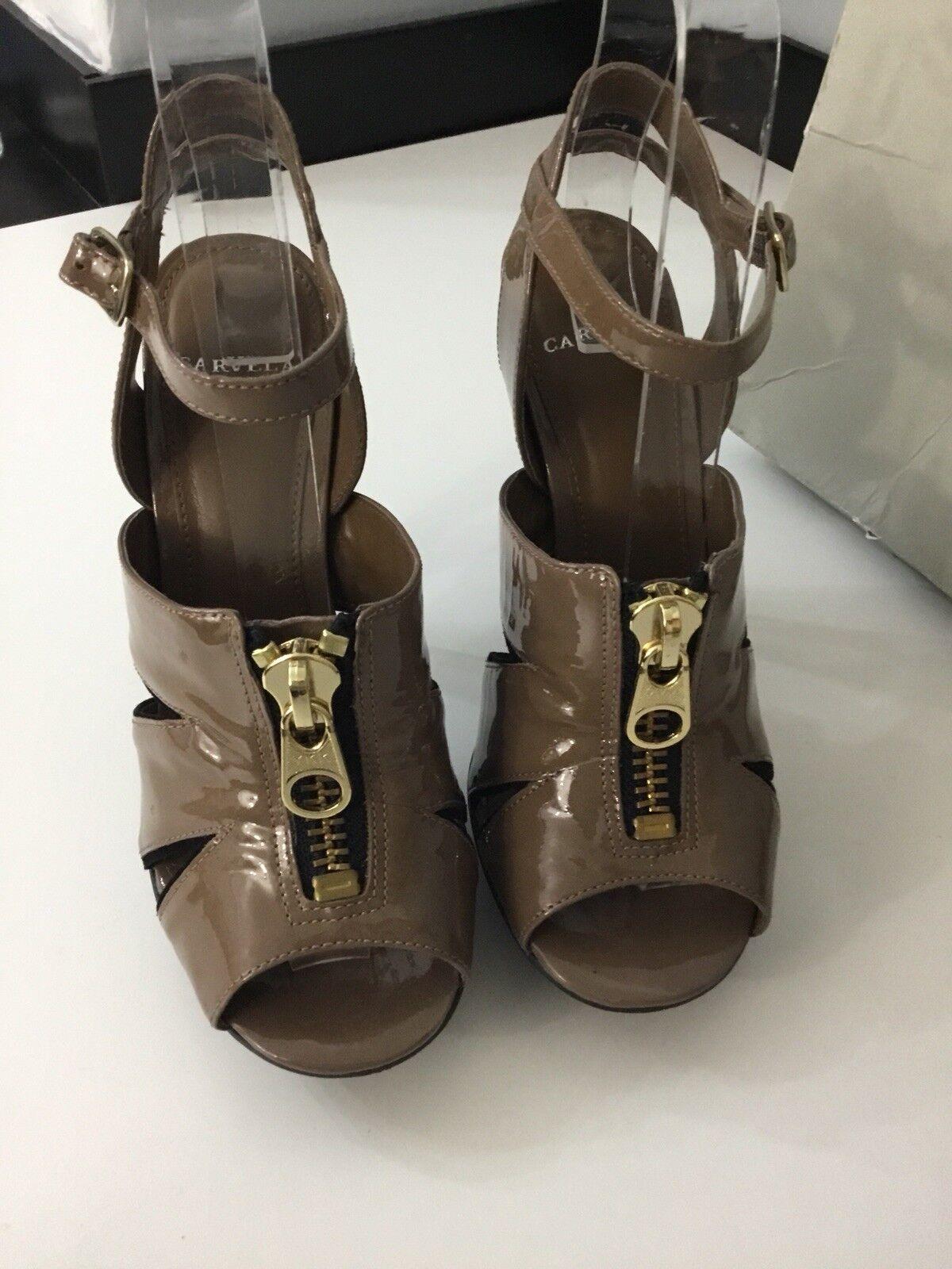Carvela Womans, Brown, High Heels, shoes, Size Size Size Uk 4 Eu 37, Worn Once, Peep Toe 4a2704