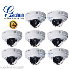 8 Pack Lot Grandstream GXV3611IR_HD Indoor Infrared Fixed Dome HD IP Cameras PoE