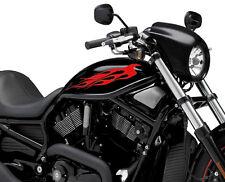 2 x Flame Fuel Tank Sticker K11 Fire Vinyl Motorcycle Motor Decal Race Motorbike