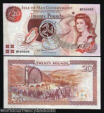 ISLE OF MAN 20 POUNDS P45B 2007 QUEEN MAP UNC GB UK CURRENCY MONEY BILL BANKNOTE
