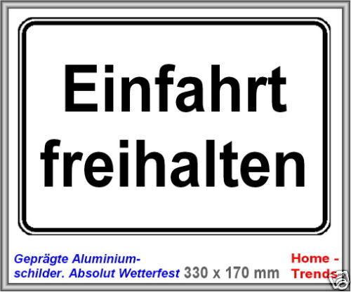Einfahrt-Parkverbot-Schild-Aluminium-Warnschild-Parken