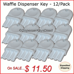 Universal-034-Waffle-Key-034-for-Paper-Towel-amp-Toilet-Tissue-Dispensers-12-pk